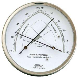 Fischer Hygromètre Synthétique/Thermomètre 130 mm avec zone de confort Fischer F-146-01 - Publicité