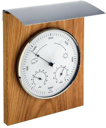 TFA Baromètre/Thermo/hygro d´extérieur Bois traité TFA T2010xx