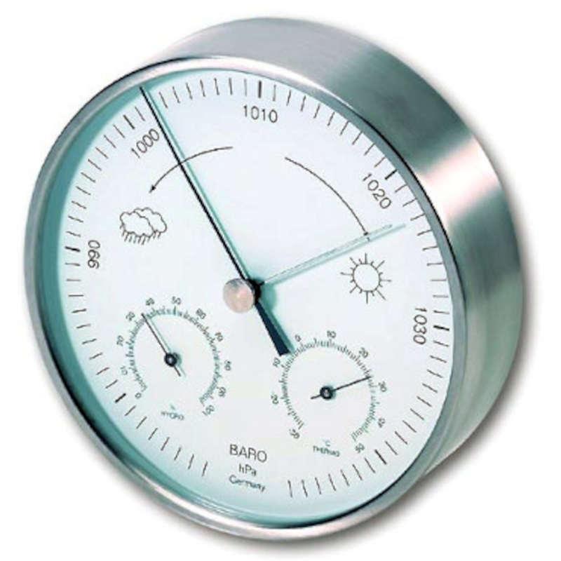 TFA Baromètre/Thermo/Hygro inox diam. 160 mm  intérieur ou exterieur TFA T202027