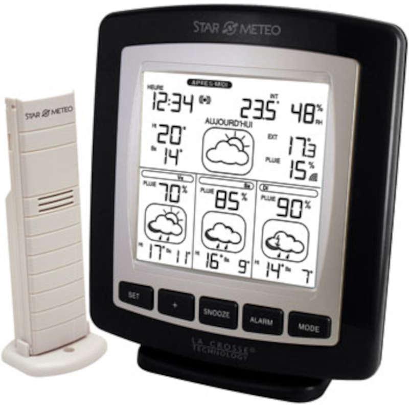 LA CROSSE TECHNOLOGY Station Météo  -STAR METEO- prévisions à 3 Jours + T° et %pluie LA CROSSE TECHNOLOGY WD4601