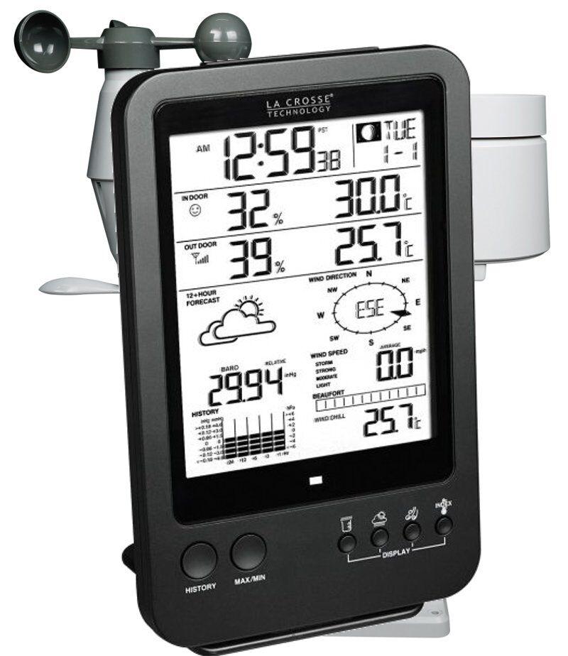 LA CROSSE TECHNOLOGY Station Météo  Pro complète avec alarmes et capteur 5 en 1 (sans connexion PC) LA CROSSE TECHNOLOGY WS1650