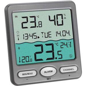 TFA Thermomètre de piscine solaire avec lecture à distance alarme et radiopiloté TFA T303056+8pilesxLR3 - Publicité