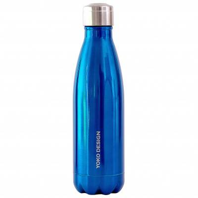 Blancheporte Bouteille isotherme inox 500 ml bleu