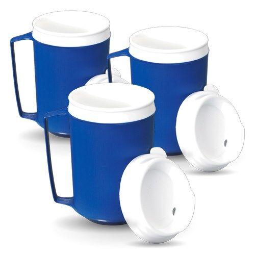 Mug lesté et isotherme avec couvercle - Lot de 3