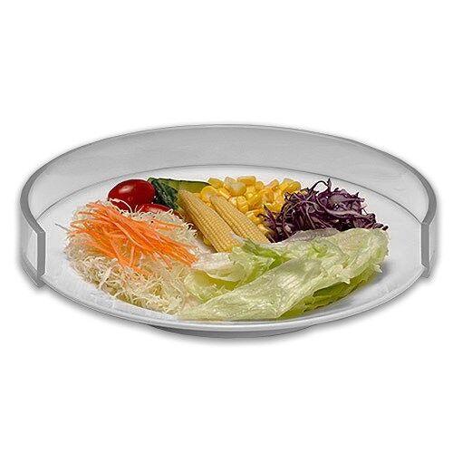 rebord d'assiette transparent - standard - lot de 3