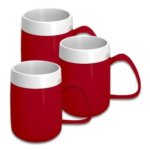 NRS Tasse isotherme - Rouge - Lot de 3