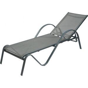 Destock Meubles Bain de soleil Sunset aluminium gris - Publicité