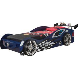 Destock Meubles Lit enfant voiture de course bleu 90x200 - Publicité