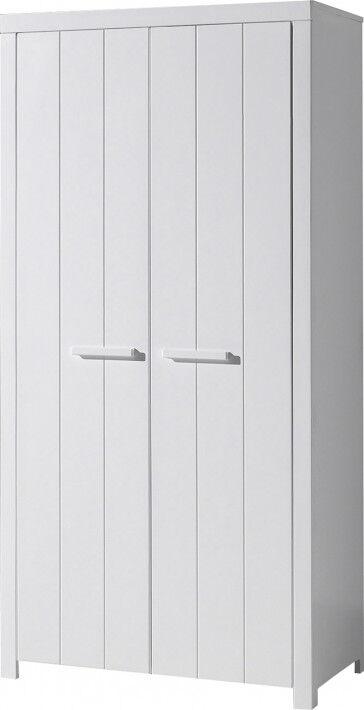 Destock Meubles Armoire enfant blanc 2 portes – ERIK