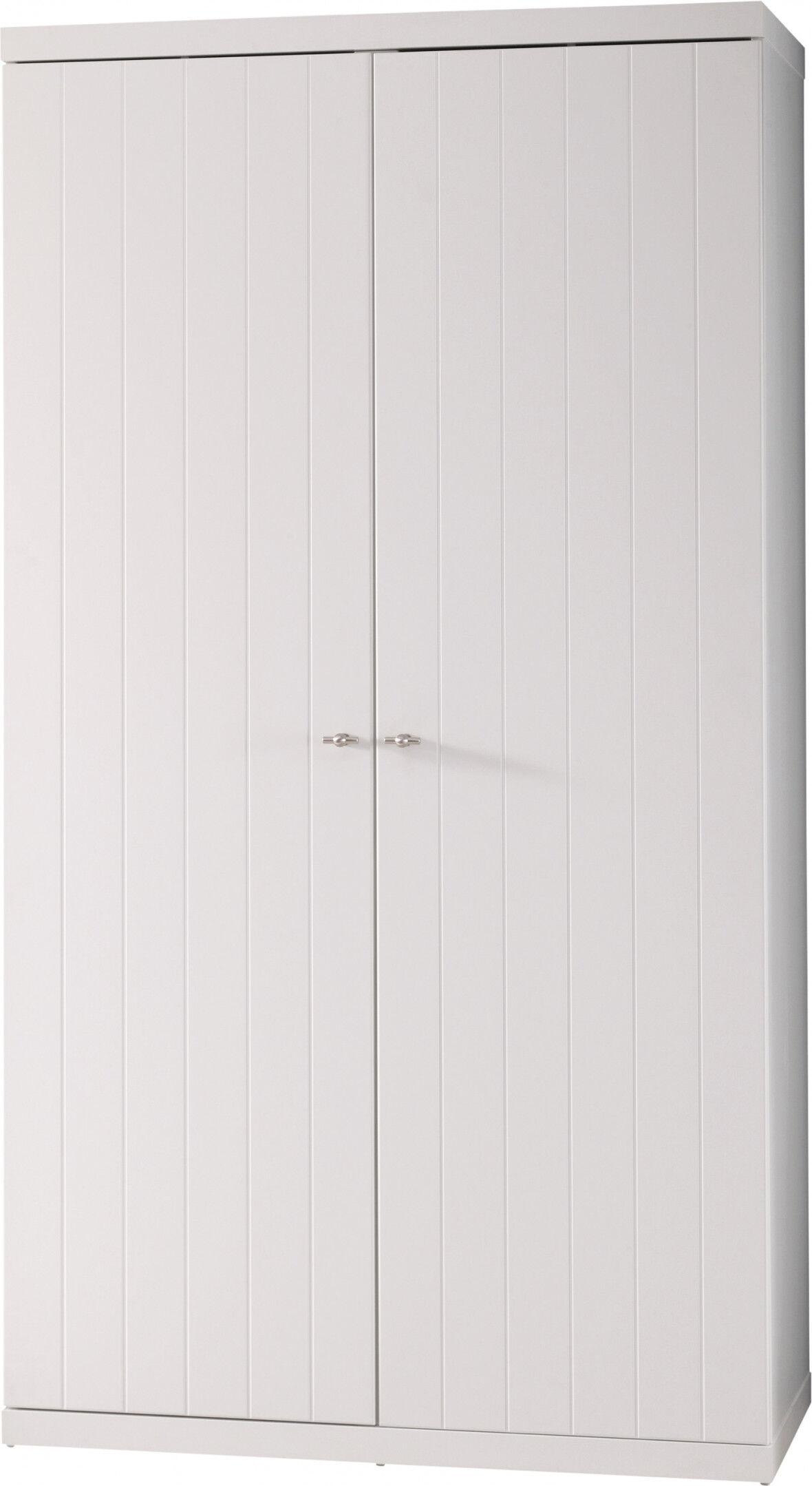 Destock Meubles Armoire enfant laqué blanc 2 portes ROBIN