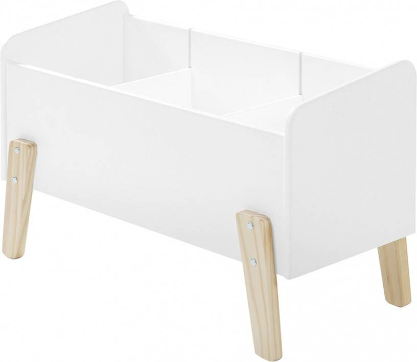 Destock Meubles Coffre à jouet blanc 2 étagères verticale – KIDDY