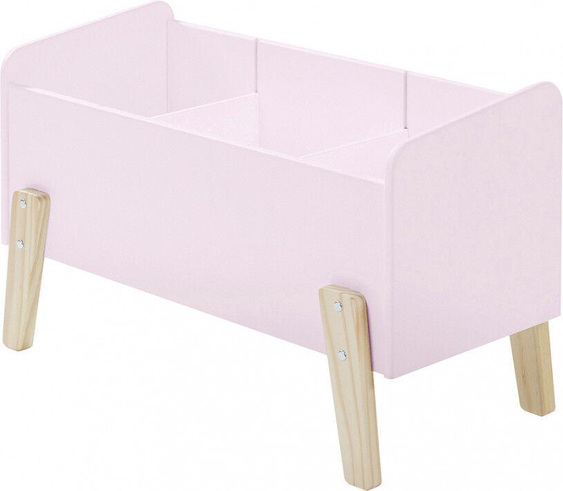 Destock Meubles Coffre à jouet rose 2 étagères verticale – KIDDY