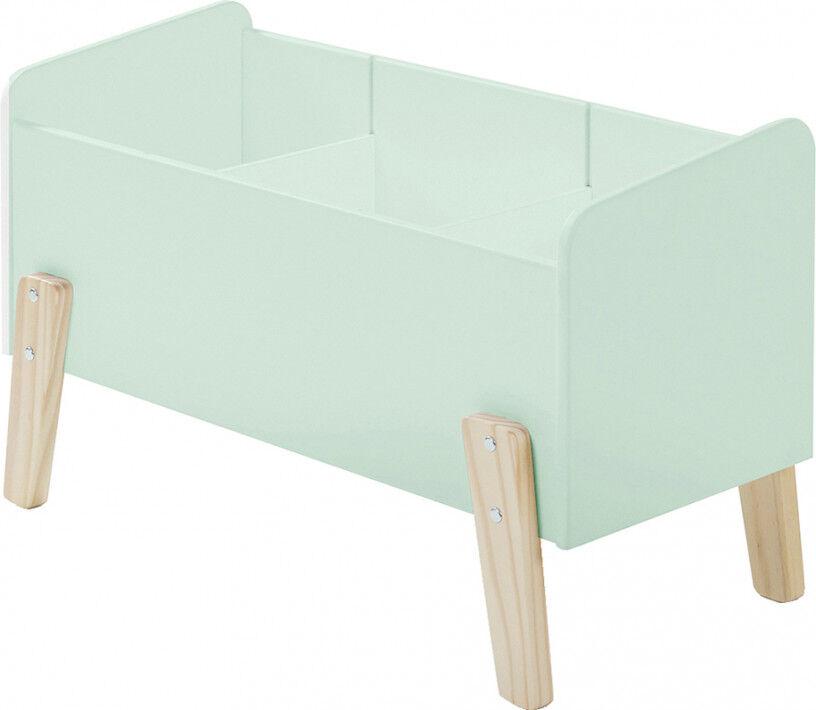 Destock Meubles Coffre à jouet vert menthe 2 étagères verticale – KIDDY