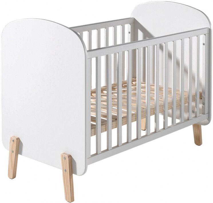 Destock Meubles Lit bébé transformable pin blanc – KIDDY