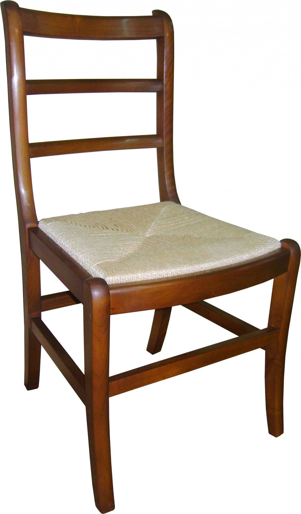 Destock Meubles Chaise louis philippe teinte merisier assise paille