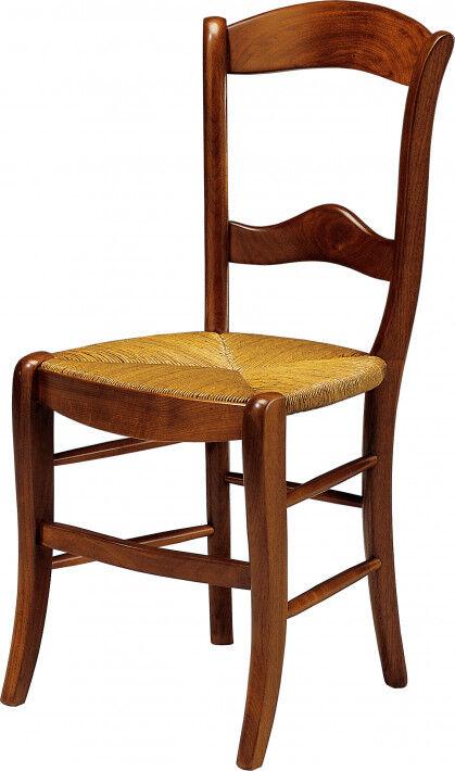 Destock Meubles Chaise merisier 2 barreaux assise paille
