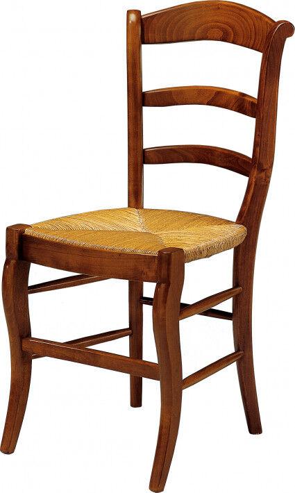 Destock Meubles Chaise merisier 3 barreaux assise paille