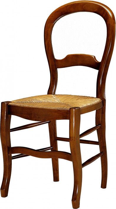 Destock Meubles Chaise merisier dossier violon assise paille