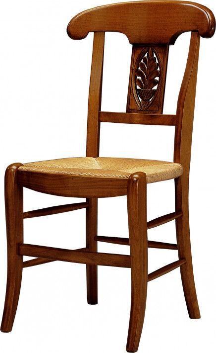 Destock Meubles Chaise merisier palmette assise paille