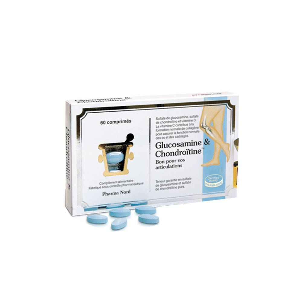 PHARMA NORD GLUCOSAMINE & CHONDROITINE 60 COMPRIMES
