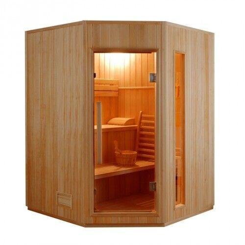 """""""France Sauna"""" """"Sauna vapeur ZEN 2 à 4 Places-Zen 3/4 Places angulaire"""""""