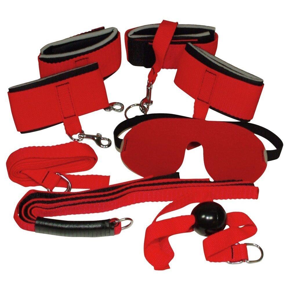 Bad Kitty Kit Bondage Rouge et Noir 6 Pièces