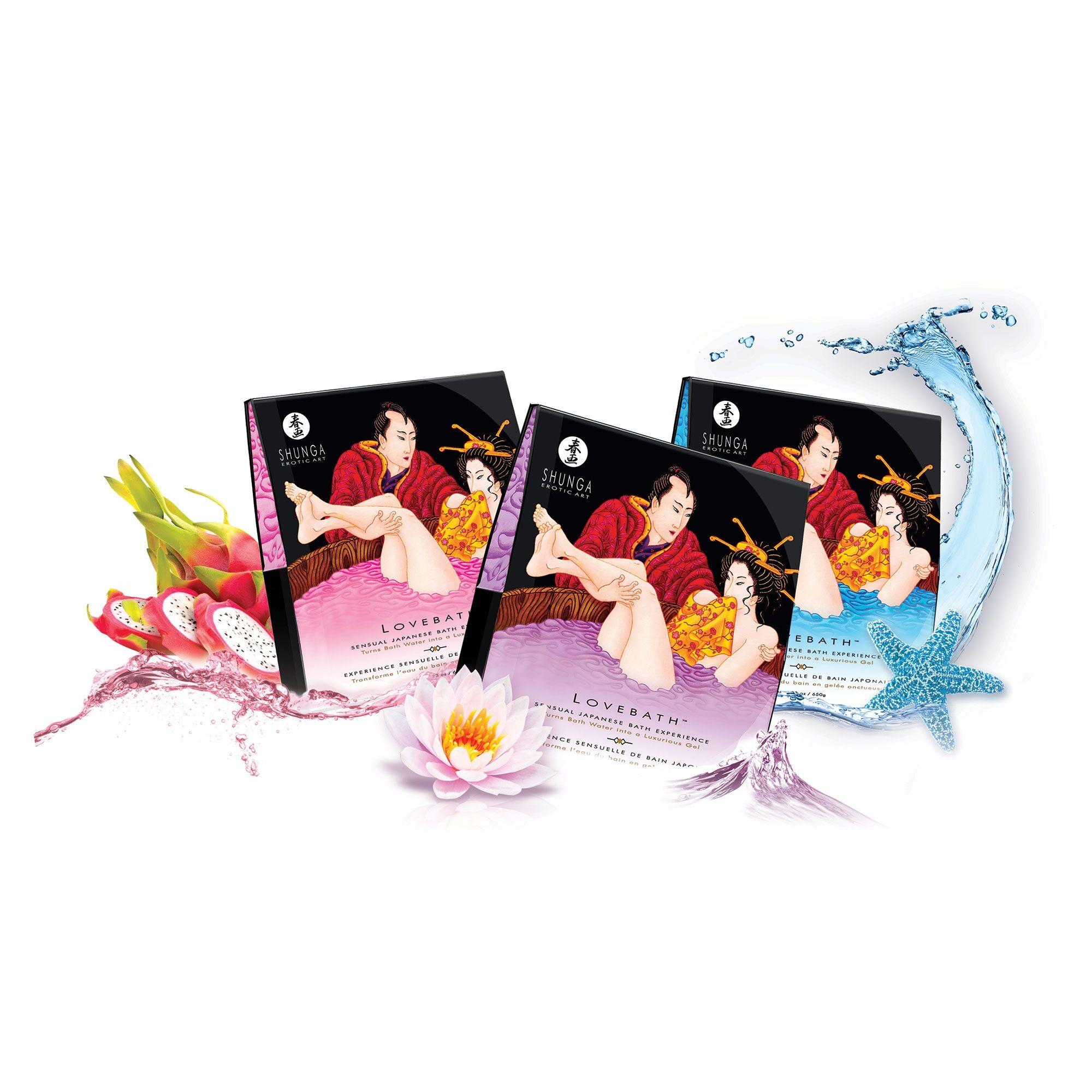 Shunga Bain Japonais LoveBath - Parfum : Lotus Sensuel
