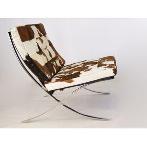 Famous Design Chaise Barcelona Pony - Marron   blanc - Publicité