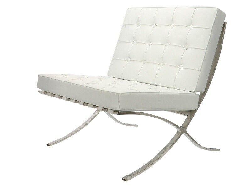 Famous Design Chaise Barcelona - Blanc (pur)