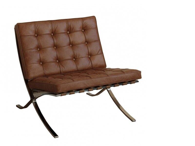 Famous Design Chaise Barcelona - Caramel