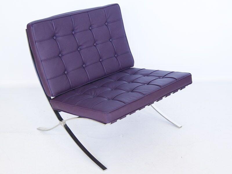 Famous Design Chaise Barcelona - Mauve