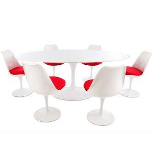 Famous Design Table ovale Saarinen et 6 chaises - Publicité