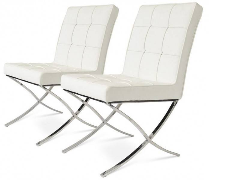 Famous Design Barcelona Dining Chair - Blanc(2 chaises)