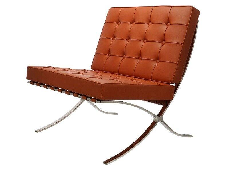 Famous Design Chaise Barcelona - Cognac