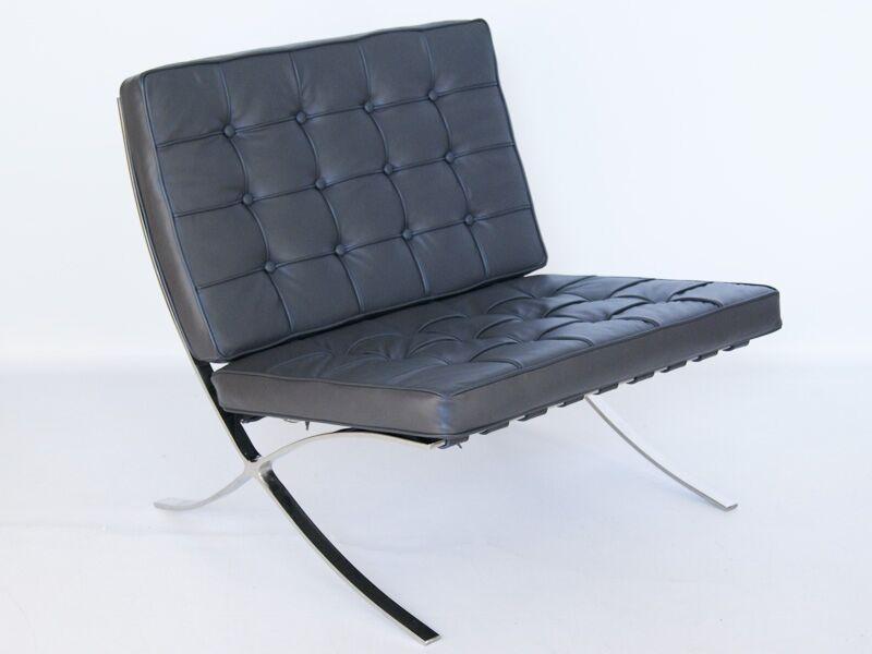 Famous Design Chaise Barcelona - Gris foncé