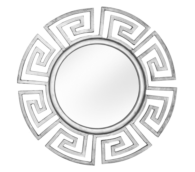 gdegdesign Miroir design rond cadre aluminium argenté - Rima