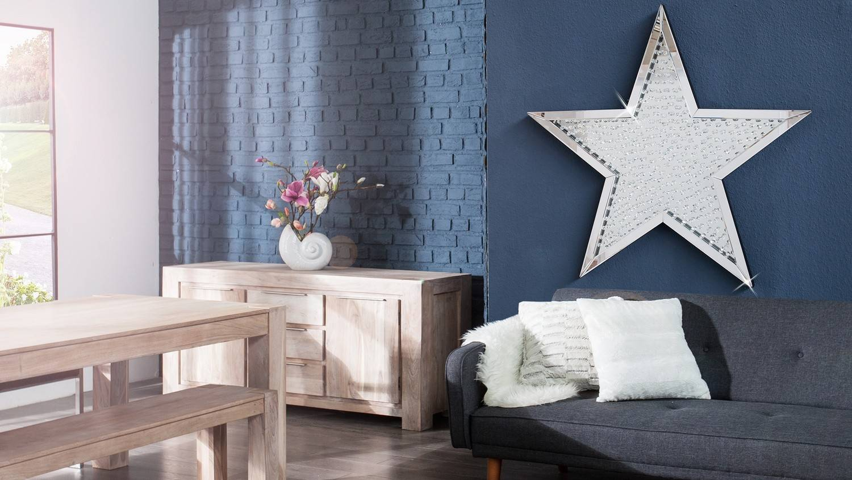gdegdesign Miroir design étoile avec strass - Matera