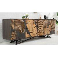 gdegdesign Buffet bahut bois massif tropical exotique gris motifs végétaux - Paco <br /><b>919 EUR</b> gdegdesign