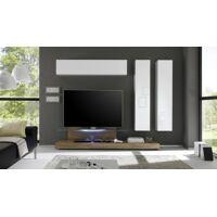 gdegdesign Ensemble meuble TV mural lumineux avec rangements - Upton <br /><b>859.00 EUR</b> gdegdesign