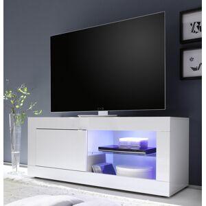 gdegdesign Meuble TV 1 porte blanc uni avec LED - Lernig Small - Publicité