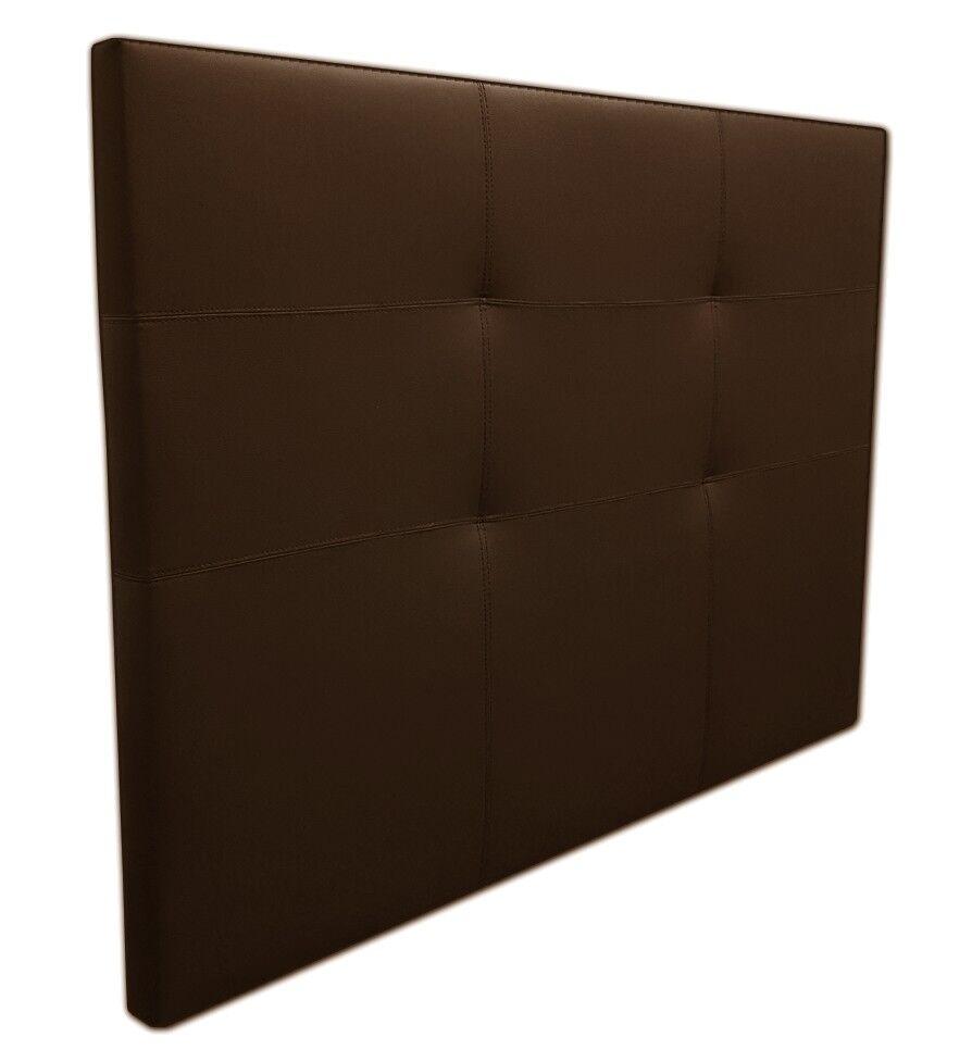 gdegdesign Tête de lit simili cuir marron chocolat 140 cm - Pier
