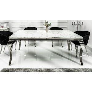gdegdesign Table à manger baroque rectangulaire plateau marbre blanc 180 cm - Zita - Publicité