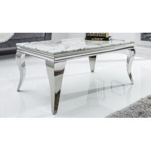gdegdesign Table basse baroque rectangulaire plateau marbre blanc - Zita - Publicité