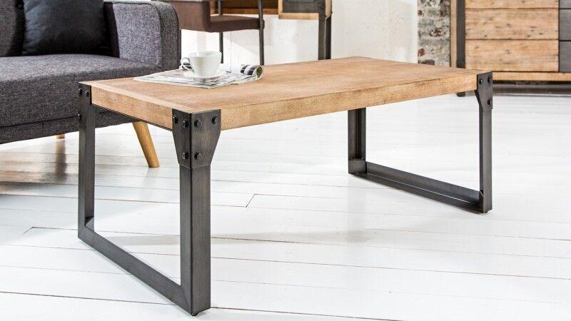gdegdesign Table basse industriel bois et métal - Jorg