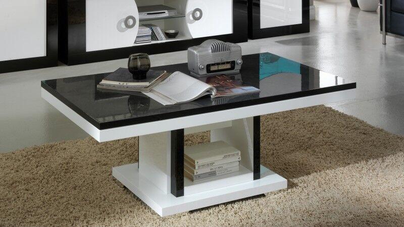 gdegdesign Table basse design noir et blanc - Nevis