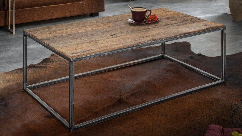 gdegdesign Table basse industriel bois et métal - Luke