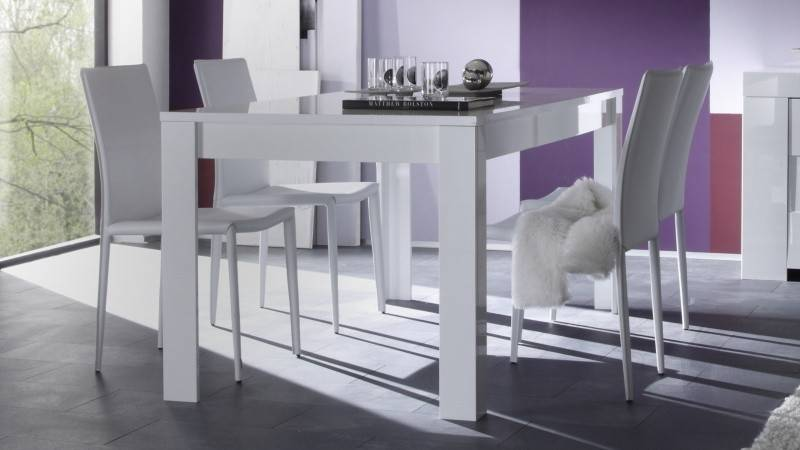 gdegdesign Table à manger 180 cm blanche - Konrad