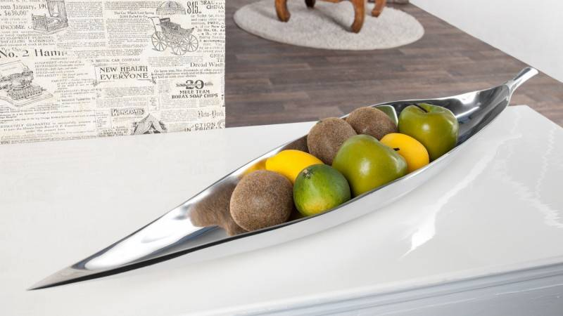 gdegdesign Coupe à fruits design aluminium poli - Iole