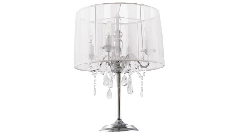 gdegdesign Lampe à poser blanche baroque à pampilles - Klassik JR