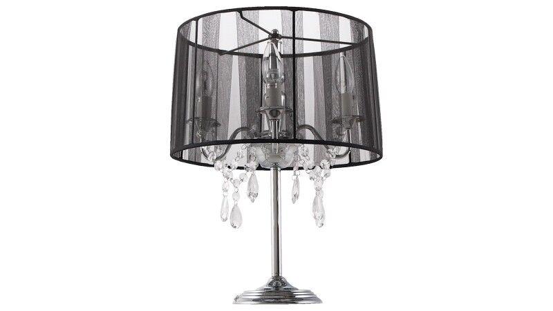 gdegdesign Lampe à poser noire baroque à pampilles - Klassik JR